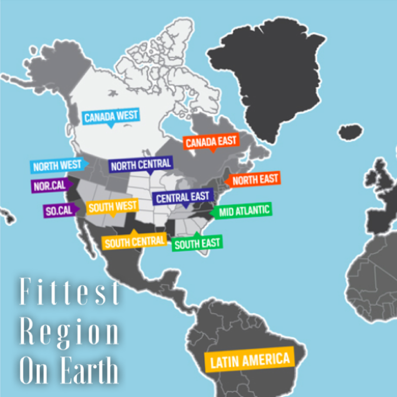 The Fittest Region On Earth Btwb Press - Us regions map mid atlantic south central