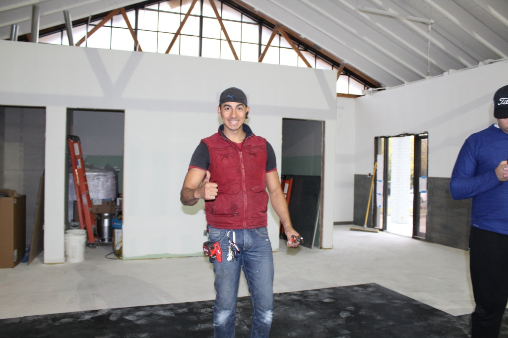 My contractor Yussele was just as excited as I was to be done!